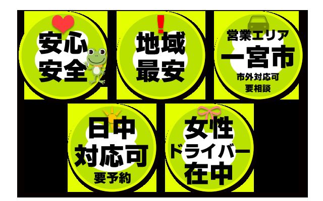 カエル運転代行の特徴
